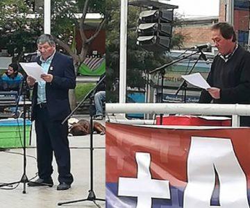 Las diferencias entre las dos ceremonias del 1º de Mayo de las organizaciones sindicales en Ovalle