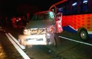 Dos heridos en triple colisión registrada en Sotaquí