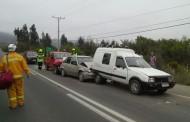 Cuatro vehículos involucrados en accidente vehicular en ruta a Sotaquí