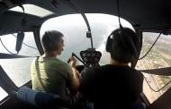 Con helicóptero privado buscan a joven ovallino desaparecido en el mar
