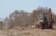 Inician trabajos de limpieza de basural clandestino en camino a El Dorado