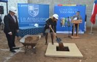 Colocan Primera Piedra de futuro edificio de Caja de Compensación La Araucana