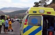 Dos lesionados en accidente vehicular en las cercanías de Estación Recoleta