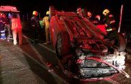 Grave menor de cuatro años tras volcar camioneta en Mantos de Hornillos