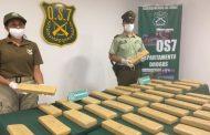 Incautación de 38 kilos de droga a bordo de un bus interprovincial se realiza sin detenidos