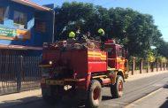 En población Media Hacienda fue alarma de incendio de hoy al mediodía