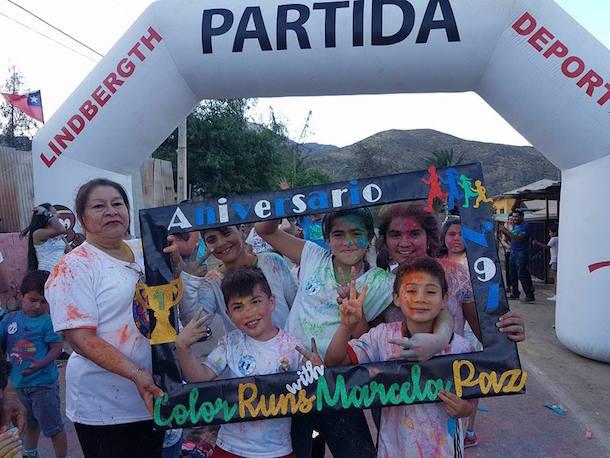 Familias participan colorida Corrida por la Prevención en el Tome Alto de Monte Patria