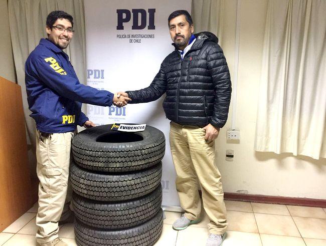 A través de portal de internet ofrecían neumáticos robados en Ovalle