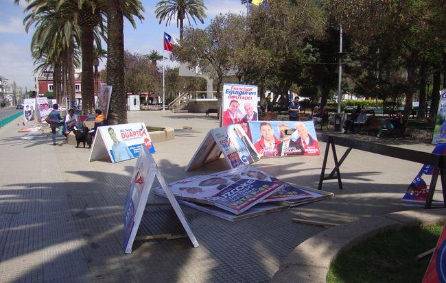 """Propaganda electoral en la Plaza de Armas: """"Esto es una vergüenza""""."""