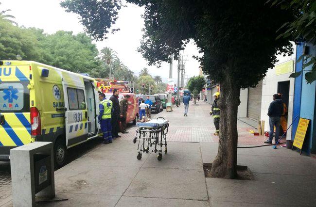 Trabajadora lesionada al caer montacargas de céntrico edificio comercial