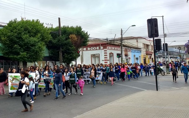 Tías de Integra se toman las calles por mejoras salariales