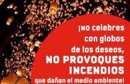 """Bomberos hace un llamado a no utilizar """"Globos de los Deseos"""" este Año Nuevo"""