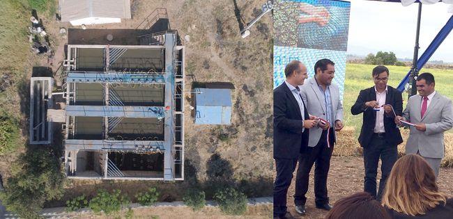 En Cerrillos de Tamaya inauguran primera planta de tratamiento de aguas residuales en Chile