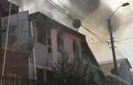 Daños totales en el segundo piso deja incendio registrado el sábado en Ovalle