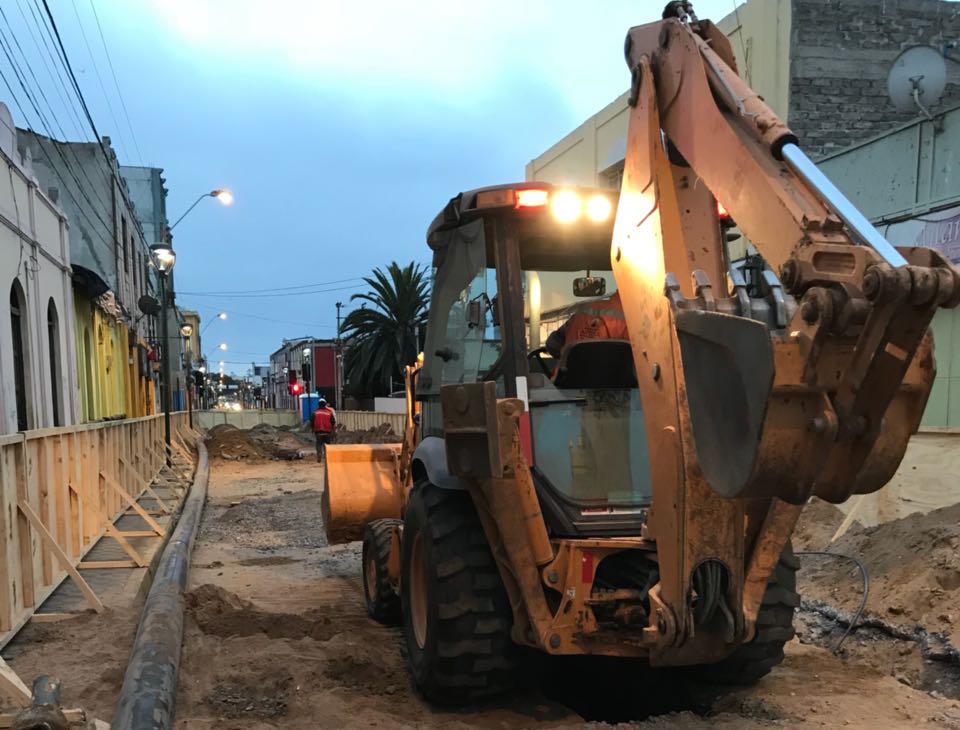 Invierten más de un millón y medio de dólares en renovación de redes en el centro de Coquimbo