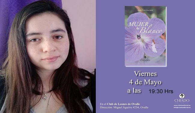 Este viernes joven escritora ovallina presentará novela publicada en España