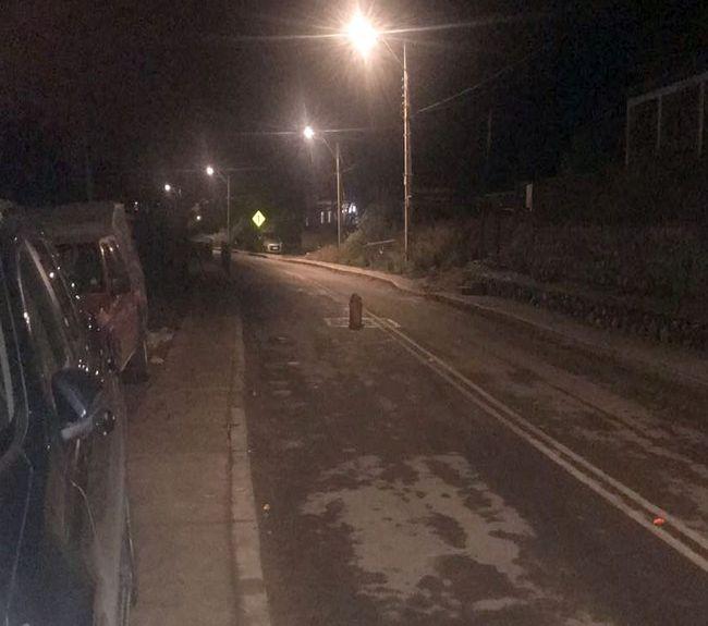 Tapa de cámara peligrosa en calle principal de La Chimba