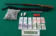 Detienen en Ovalle a sujetos transportando escopeta y drogas
