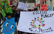 Colegio Yungay marcha por el medio ambiente