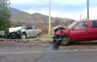 Dos vehículos colisionan frontalmente : un fallecido y una herida grave