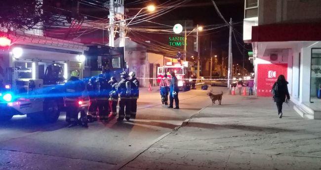 Fuga de gas en céntrico local obligó a suspender tránsito