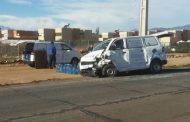 FotoNoticia: Furgón utilitario y automóvil particular colisionan en entrada norte de Ovalle