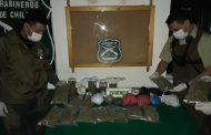 Carabineros concurre a procedimiento por robo y se encuentra con 12 mil dosis de droga
