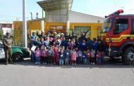 Jardín infantil realiza simulacro de catástrofe y emergencia