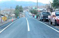 Vecinos de Valle Hermoso felices con pavimentación de ruta de acceso