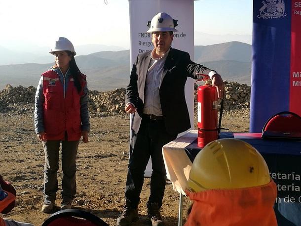 Equipo de Seguridad capacita a mineros de la región en Uso y Manejo de extintores