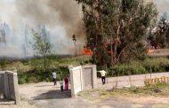 Agradecen la labor de Bomberos en incendio del bosque