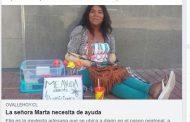 Increíble movimiento solidario para ayudar a la señora Marta