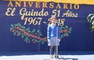 Localidad de El Guindo celebró 51 años de vida