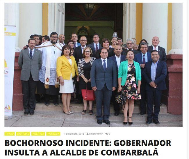 Insólito incidente entre Gobernador del Limarí y alcalde en acto aniversario de Combarbalá