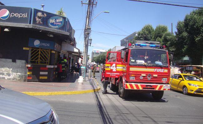 Fuga de gas en local de calle Benavente alertó a Bomberos