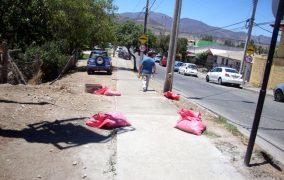 Reparan acera en mal estado en entrada de la población Fray Jorge