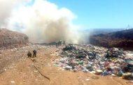 AHORA: Incendio sin control en vertedero municipal de Ovalle
