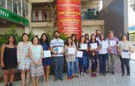 Ovallinos recibieron certificación en Chino Mandarín