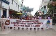Alumnas de la escuela Helene Lang también marcharon en el Día de la Mujer en Ovalle