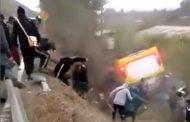 Los angustiantes primeros momentos del accidente del bus con escolares