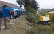 Volcamiento de bus: Dos estudiantes con fracturas expuestas fueron trasladados a Coquimbo