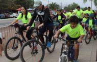 """Habitantes de tres localidades de Monte Patria participan de cicletada """"Súbete a la Bici"""""""