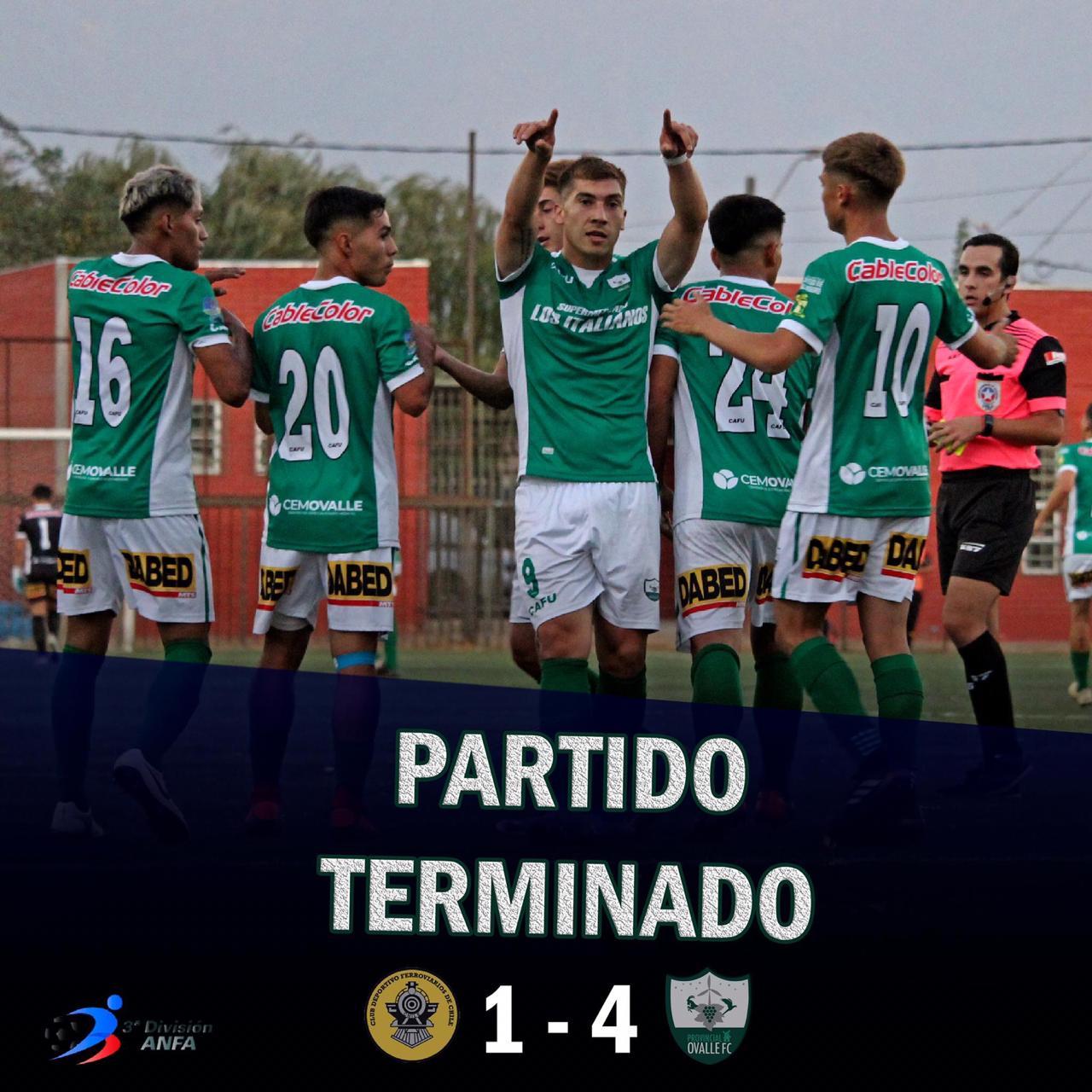 Provincial Ovalle le ganó 4 a 1 a Ferroviarios en la capital