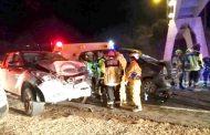 VIDEOS: Un total de 12 personas resultaron involucradas en colisión múltiple en Los Peñones