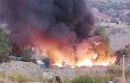 Incendio reduce a escombros mediagua de campamento