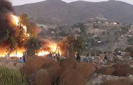 Lesionado en incendio de campamento habría sufrido feroz golpiza de sus vecinos