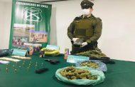 Detienen a sujeto con armas, municiones y casi dos kilos de marihuana en Punitaqui