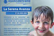 39 mil hogares de La Serena beneficiados con renovación de redes de Aguas del Valle