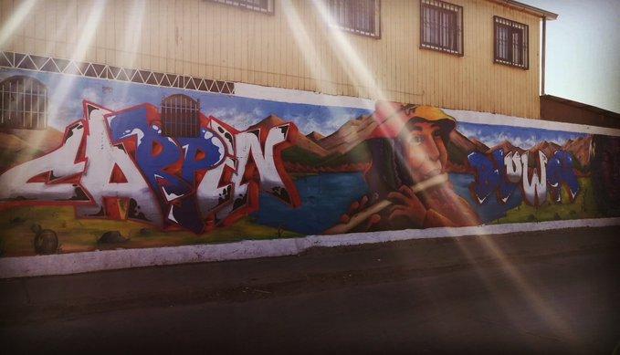 FotoNoticia: Bello Mural en la Población Media Hacienda de Ovalle