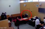 Video muestra los momentos de pánico en el Tribunal tras el intento de fuga de imputado